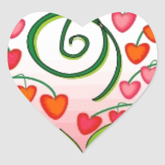 BLEEDING HEART FLOWER GRAPHIC PINKS REDS WHITE GRE HEART STICKER