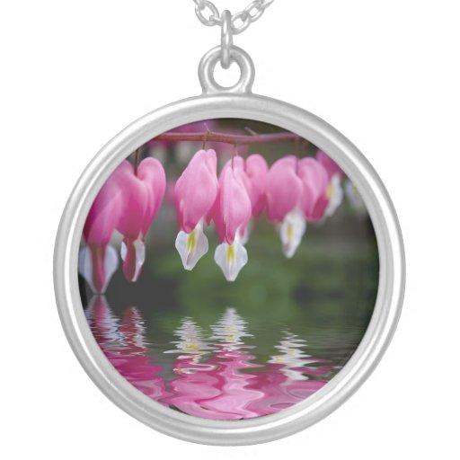 bleeding heart flower custom necklace