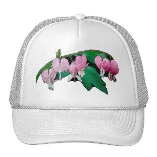 Bleeding Heart Flowers Mesh Hat