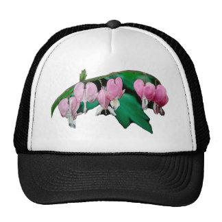 Bleeding Heart Flowers Trucker Hats
