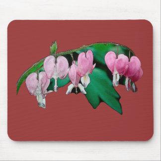 Bleeding Heart Flowers Mouse Pads