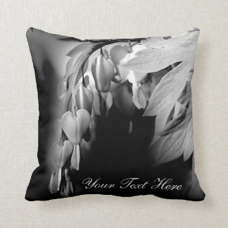 Bleeding Heart Flowers Personalized Throw Pillow