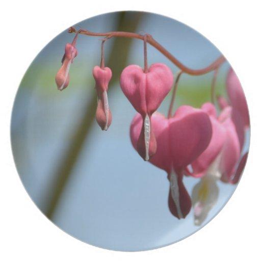 Bleeding Heart Flowers Dinner Plate