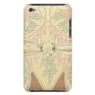 bleeding heart flowers vintage art nouveau pattern barely there iPod cover