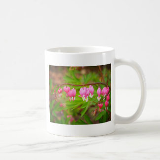 Bleeding Heart Flowers With Heart Petals Classic White Coffee Mug