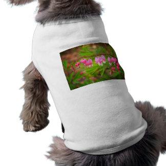 Bleeding Heart Flowers With Heart Petals Sleeveless Dog Shirt