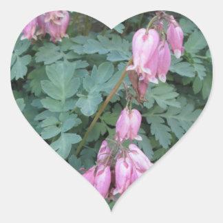 Bleeding Heart Green Purple Heart Sticker