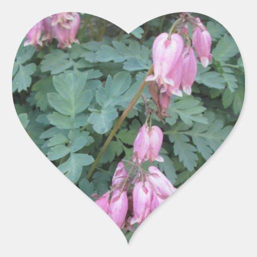 Bleeding Heart Green Purple Heart Stickers