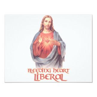 Bleeding Heart Liberal Jesus 11 Cm X 14 Cm Invitation Card