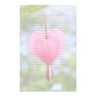 Bleeding Heart Lined or Unlined Flower Stationery