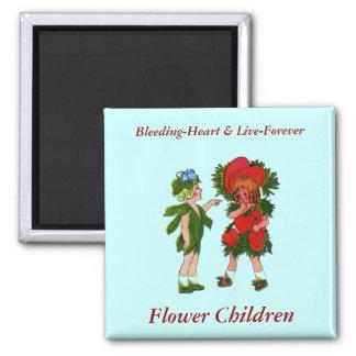 Bleeding-Heart & Live-Forever Square Magnet
