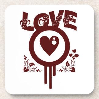 Bleeding Heart Love Funky Vector style Drink Coasters