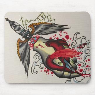 bleeding heart mouse pad
