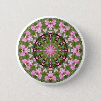 Bleeding Heart Nature, Flower-Mandala 05.f 6 Cm Round Badge