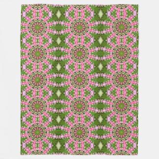 Bleeding Heart Nature, Flower-Mandala Fleece Blanket