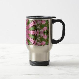 Bleeding Heart Nature, Flower-Mandala Travel Mug