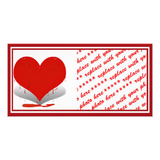 Bleeding Heart Photo Card Template