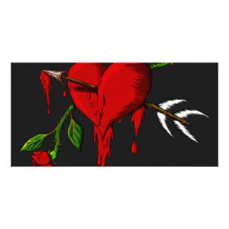 Bleeding Heart Personalized Photo Card