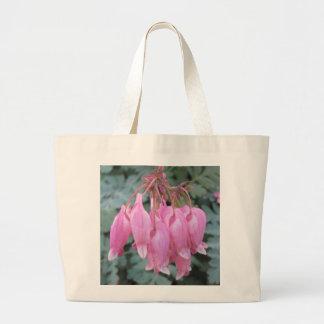 Bleeding Heart Pink Close Canvas Bag