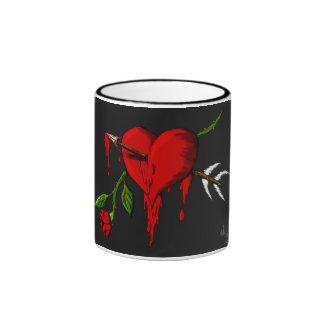 Bleeding Heart Ringer Mug