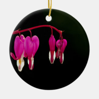 Bleeding-heart Round Ceramic Decoration