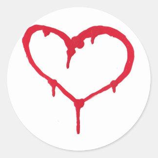 Bleeding Heart Round Sticker