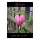 Bleeding Heart sympathy greeting card