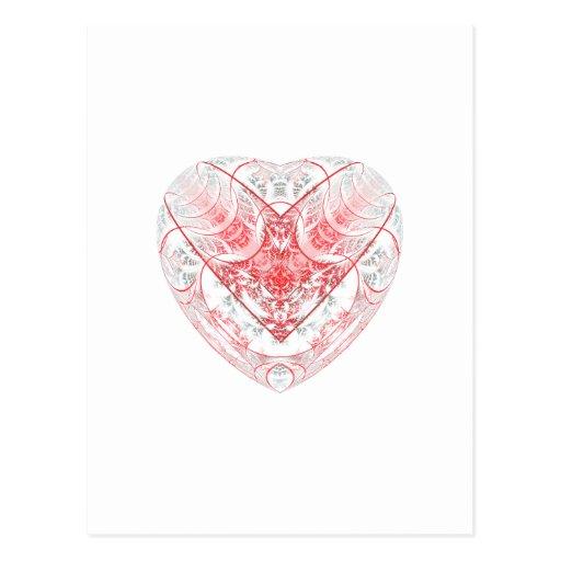 Bleeding Heart White Post Cards