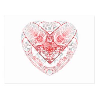Bleeding Heart White Postcard