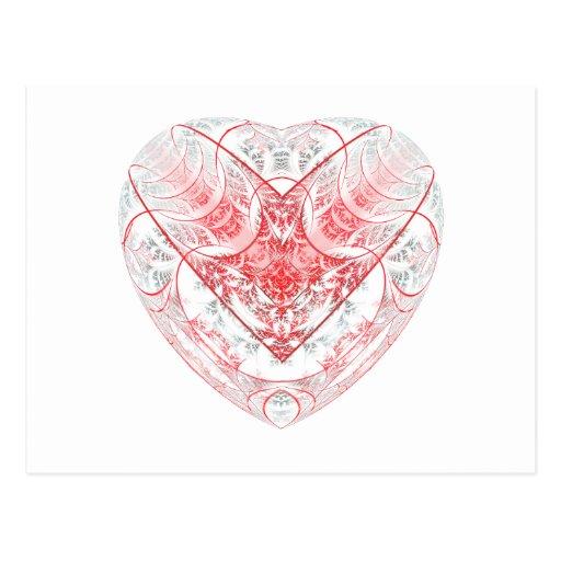 Bleeding Heart White Postcards