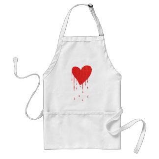 Bleeding Heart (white) Standard Apron