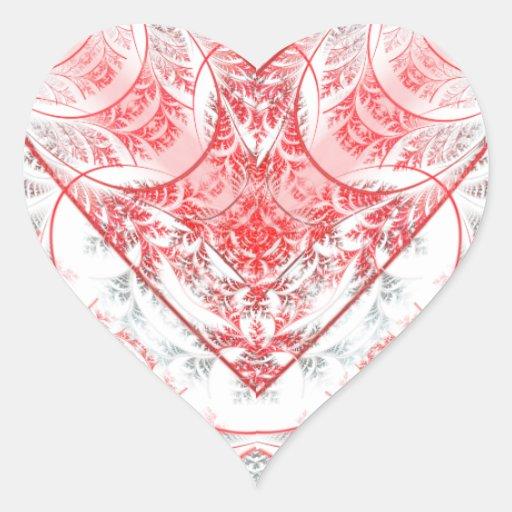 Bleeding Heart White Sticker