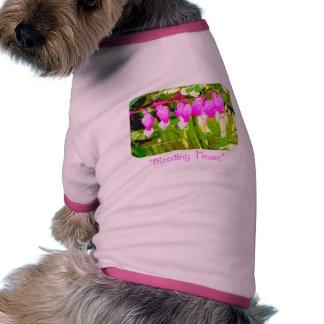 Bleeding Hearts Floral dog shirt