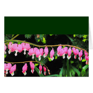 """""""BLEEDING HEARTS"""" floral notecard Note Card"""
