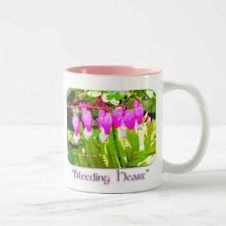 Bleeding Hearts Floral Two-Tone Mug