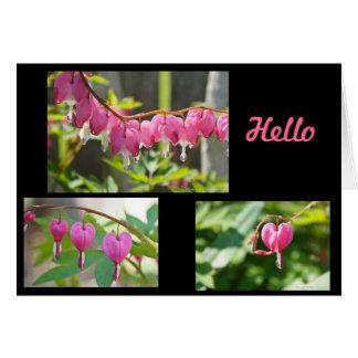 Bleeding Hearts Flowers Card