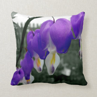 Bleeding Hearts Flowers (Purple Edit) Throw Cushion
