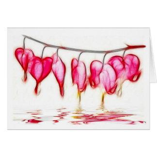 Bleeding Hearts Greeting Card