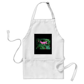 Bleeding Hearts. Pink Flowers. Aprons