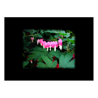 Bleeding Hearts. Pink Flowers. Business Cards