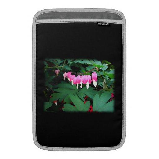 Bleeding Hearts. Pink Flowers. MacBook Air Sleeve