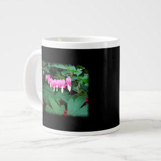 Bleeding Hearts. Pink Flowers. Jumbo Mug
