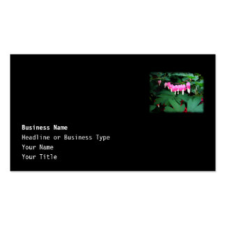 Bleeding Hearts. Pink Flowers. Pack Of Standard Business Cards