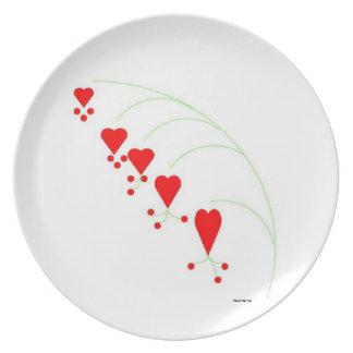 Bleeding Hearts Plate