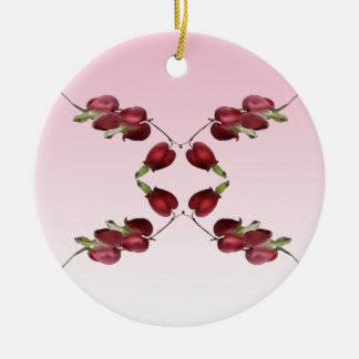 Bleeding Hearts Round Ceramic Decoration