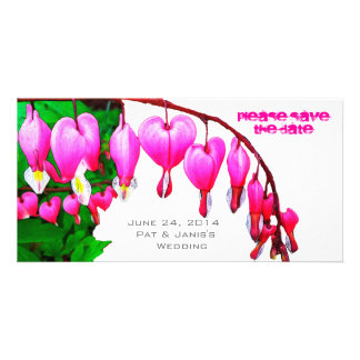Bleeding Hearts Save the Date Custom Photo Card