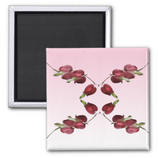 Bleeding Hearts Square Magnet
