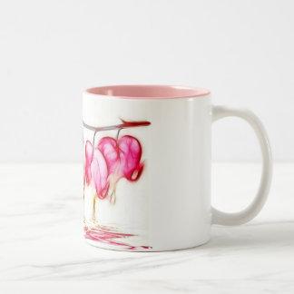 Bleeding Hearts Two-Tone Coffee Mug