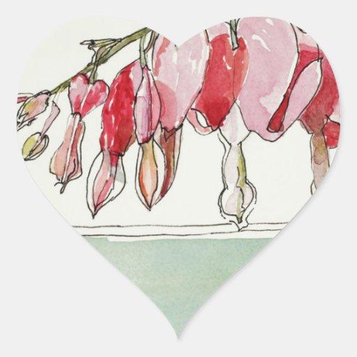 Bleeding Hearts Whimsy Sticker