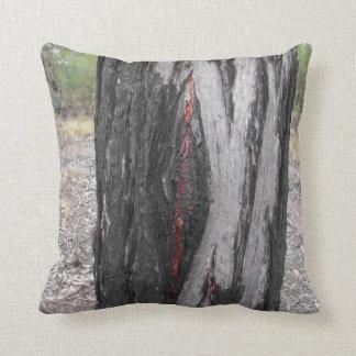Bleeding Ironbark trunk pillow
